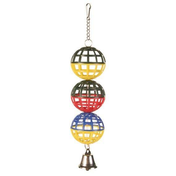 """Игрушка TRIXIE для птиц """"3 шарика с колокольчиком"""" 16см"""