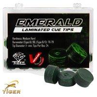 Наклейка на кий Tiger Emerald 13мм Medium/Hard