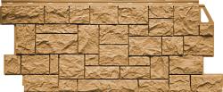 Фасадная панель (цокольный сайдинг) FineBer Камень дикий Песочный