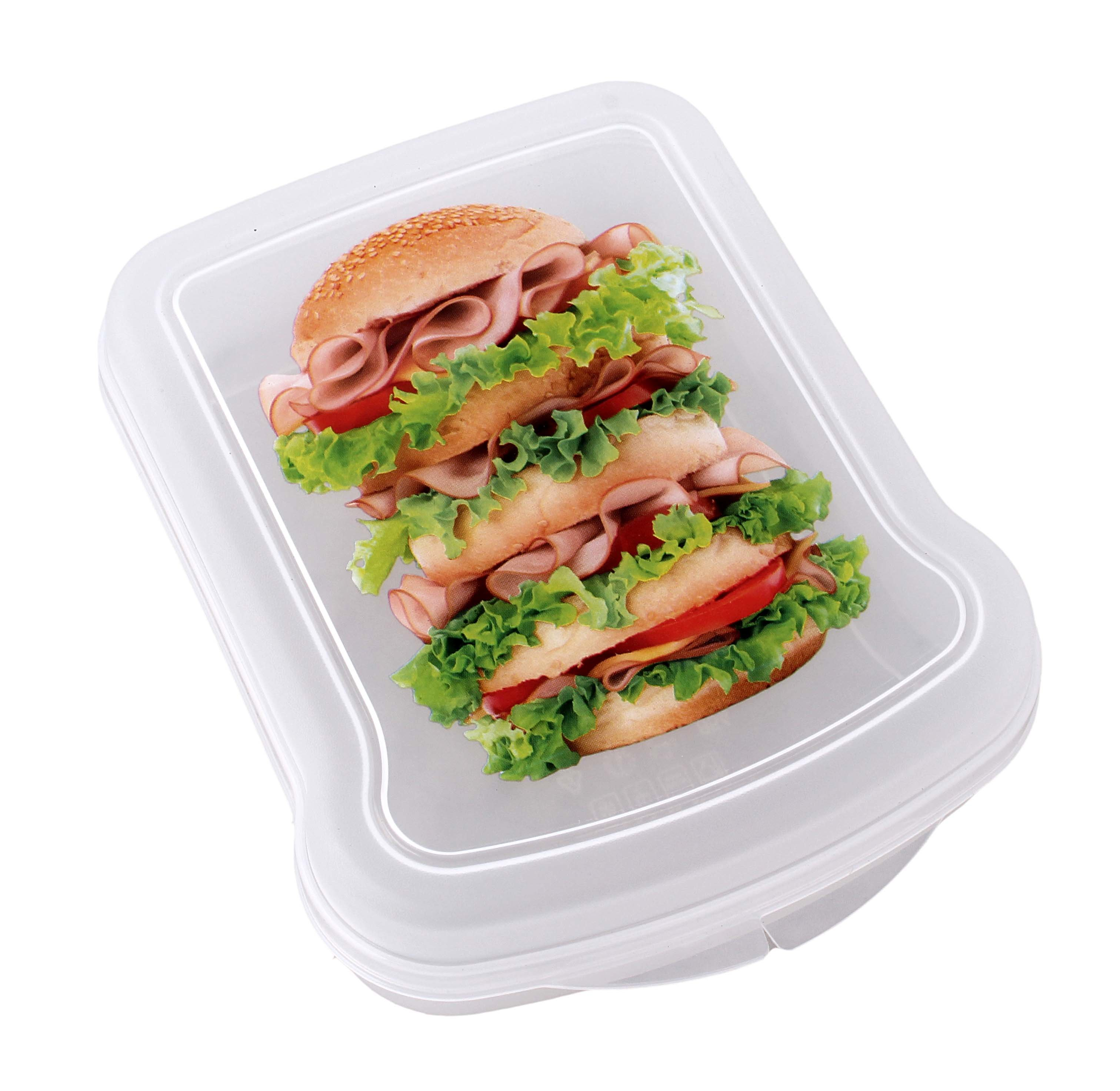 контейнеры для продуктов Бытпласт с12854 контейнер д/бутербродов