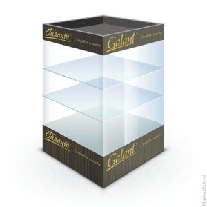 Витрина настольная для выкладки товара GALANT, стеклянная, 80х40х40 см, 3 полки, освещенная