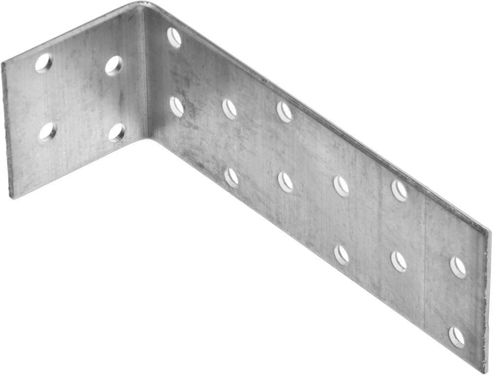 Крепежный угол анкерный 40х120х40 мм 1 шт Зубр мастер 310226-040-120