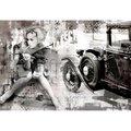 Фреска Affresco Девушка и ретро автомобиль арт. F7043