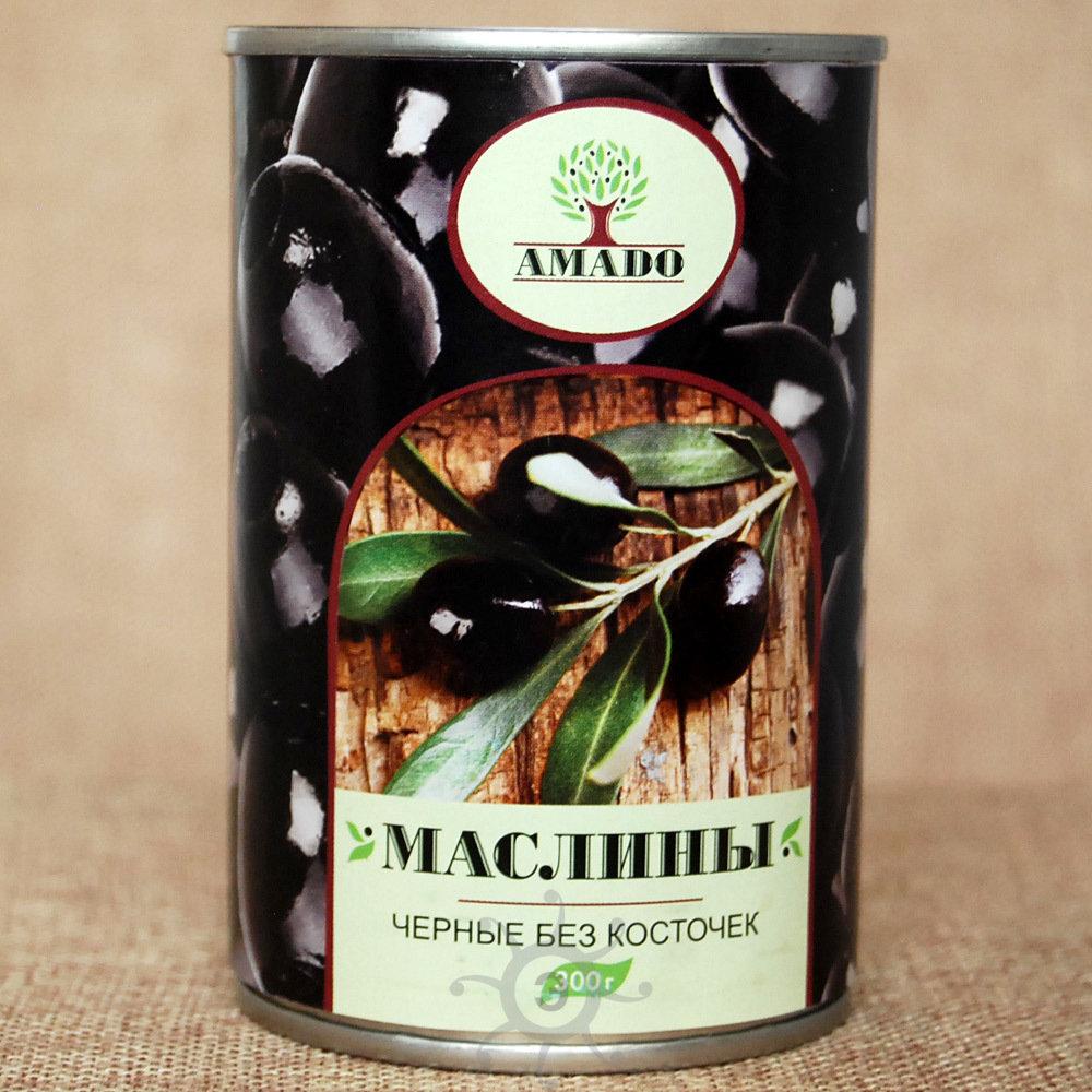 Маслины без косточки Амадо, 300г