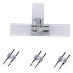 """Коннектор для светодиодной ленты Ecola LED strip 220V connector комплект для упрощенного соединения """"T""""лента-лента 2-х конт IP68 12x7 SCTN12ESB"""