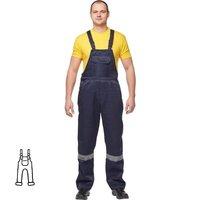 Полукомбинезон рабочий летний мужской л03-ПК с СОП синий (размер 52-54 рост 170-176)