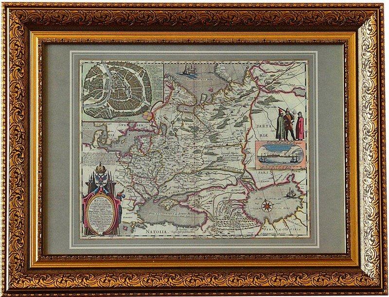 Карта России Гесселя Герритса в багете, 88х68 см