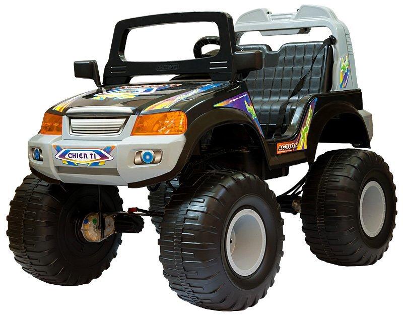 Электромобиль CHIEN TI Детский электромобиль с полным приводом на радиоуправлении CT-885R OFF-ROADER(4x4) черный