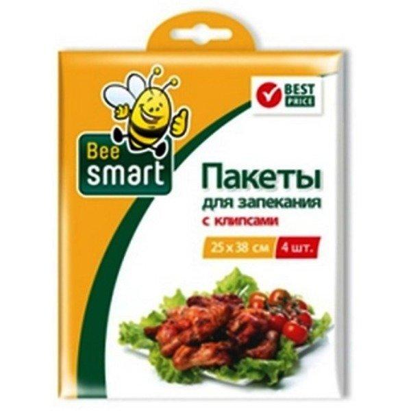 Бытовая упаковка Paclan 413017 пакеты для запекания с клипсами 25х38см 4шт