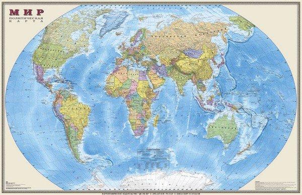 Мир. Политическая карта, на рейках. 1:15М OffGroup 4607048957066
