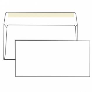 Конверт белый, DL (110*220мм), стрип-лента, клапан прямой. Конверты - в упаковке 1000 шт.