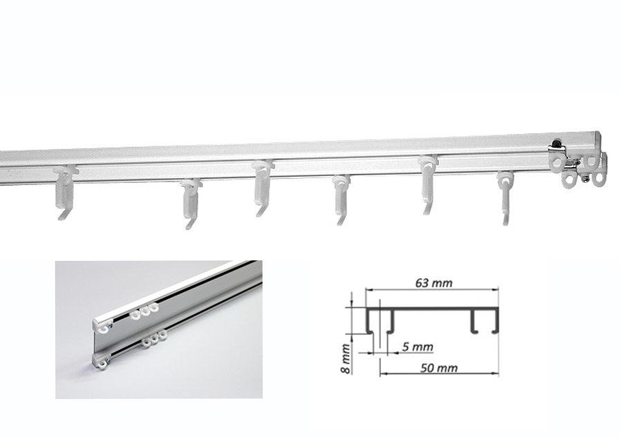 Карниз потолочный алюминиевый 2х рядный 160 см