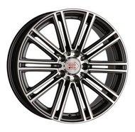 литой колесные диски 1000 MIGLIA MM1005 8.5x19 ET32 PCD5*112 (Серый с полированными лучами) DIA 66.6 - фото 1