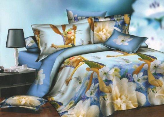 Комплект постельного белья «Кролик» Евростандарт 2