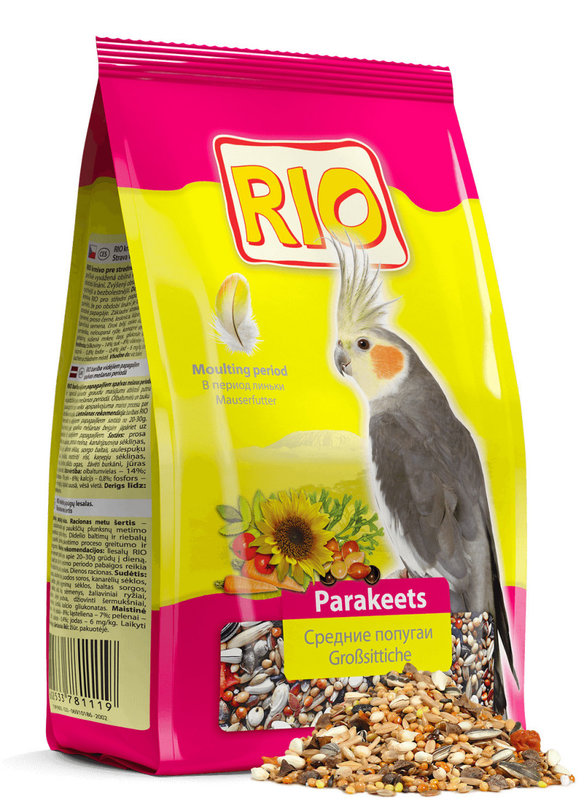 "Корм ""RIO"" для средних попугаев в период линьки, 500 г"