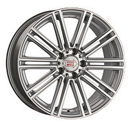 1000Miglia MM1005 8.5x19 5x112 ET 45 Dia 66.6 Matt Silver Polished - фото 1