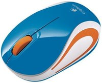 Мышь беспроводная Logitech Wireless Mini Mouse M187 синий USB