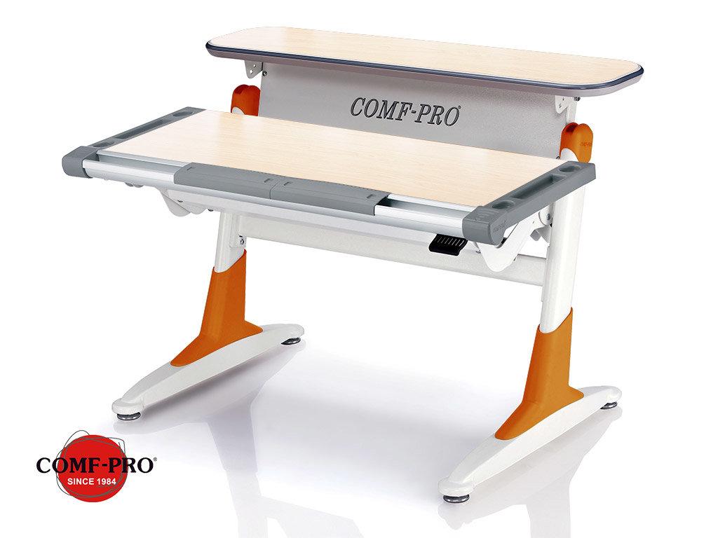 Растущая парта Comf-Pro Coho (TH-333 столешница - тик / накладки на ножках - оранжевые)