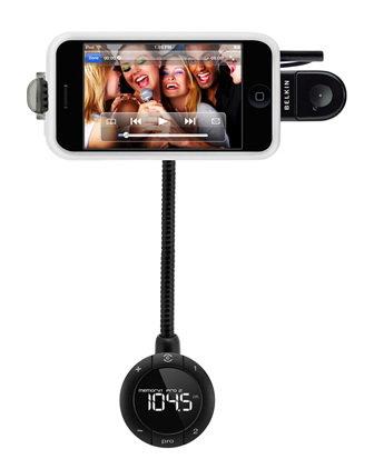 Автомобильный держатель, FM-трансмиттер и громкая связь для iPhone 4/4S Belkin TuneBase FM (F8Z441) / код товара: 1623