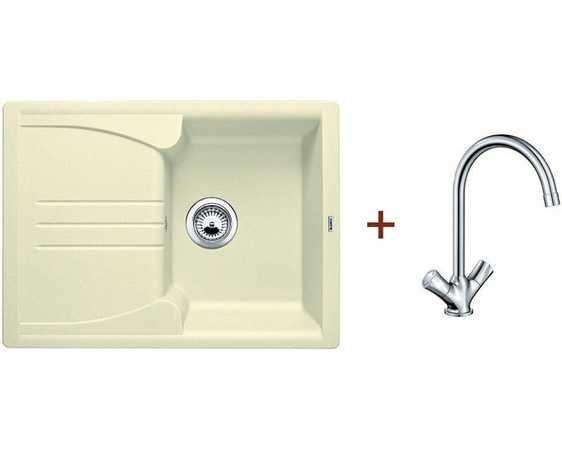 Кухонная мойка Blanco комплект из мойки ENOS 40 S жасмин и смесителя AMONA хром (514230A1)
