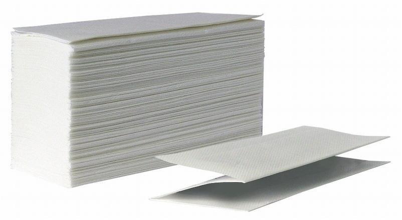 Бумажные полотенца листовые Z-сложения для диспенсеров и дозаторов 1-сл. (Однослойные)
