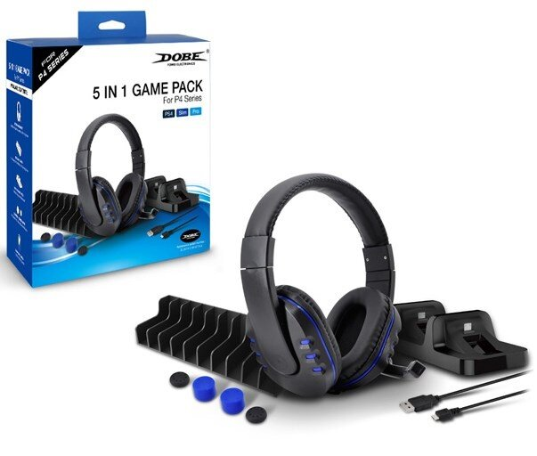 Набор аксессуаров Game Pack 5 в 1 для PS4 (TP4-18101)