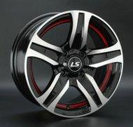 Диски LS Wheels 145 6,5x15 5x114,3 D73.1 ET40 цвет BKFRL - фото 1