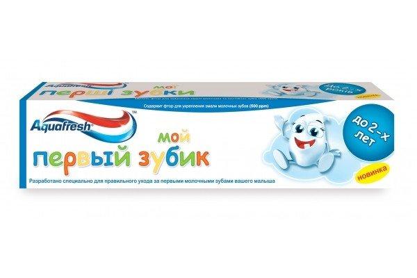 """Зубная паста Aquafresh """"Мой первый зубик"""", 50 мл"""