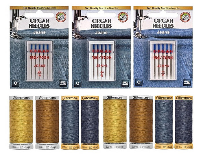 Первый Швейный Комплекты игл и нитей для работы с джинсой, парусиной и другим материалами