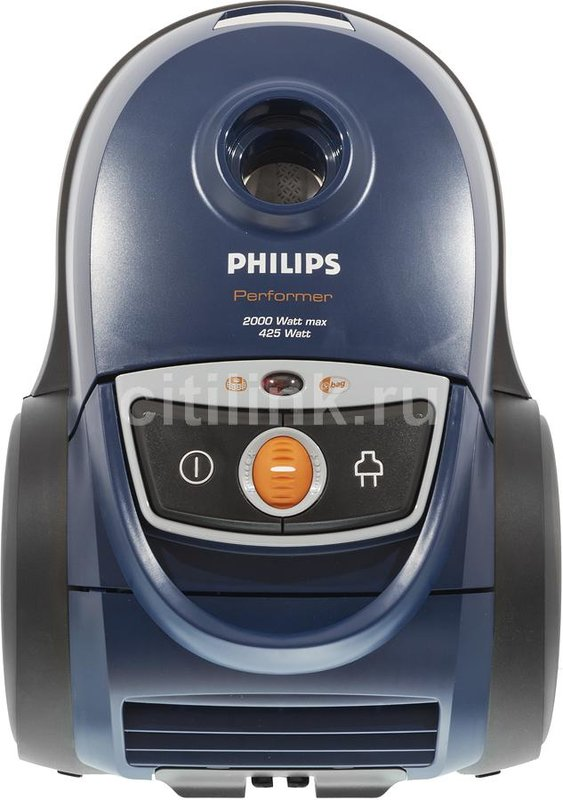 Пылесос PHILIPS FC9150/01, 2000Вт, синий