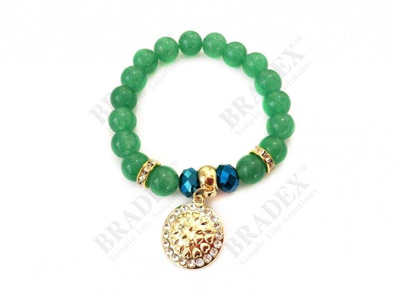 Браслет «зеленый кварц»