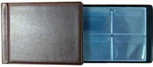 Альбом для монет 130х100 мм на 32 монеты, АМКМ-32 (коричневый)