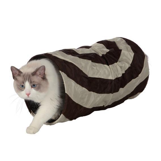 Trixie Тоннель для кошек шуршащий, коричневый/бежевый, 50х25 см