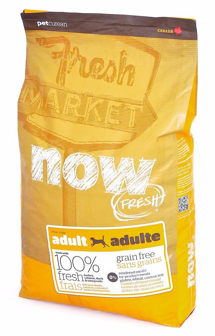 NOW Natural Holistic Fresh Grain Free Adult Recipe корм для взрослых собак, беззерновой, с индейкой, уткой и овощами, 11,35 кг