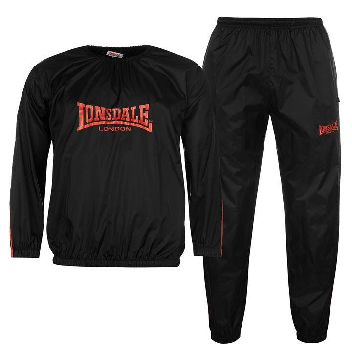 Костюм сауна Lonsdale Sweat Suit Mens черный