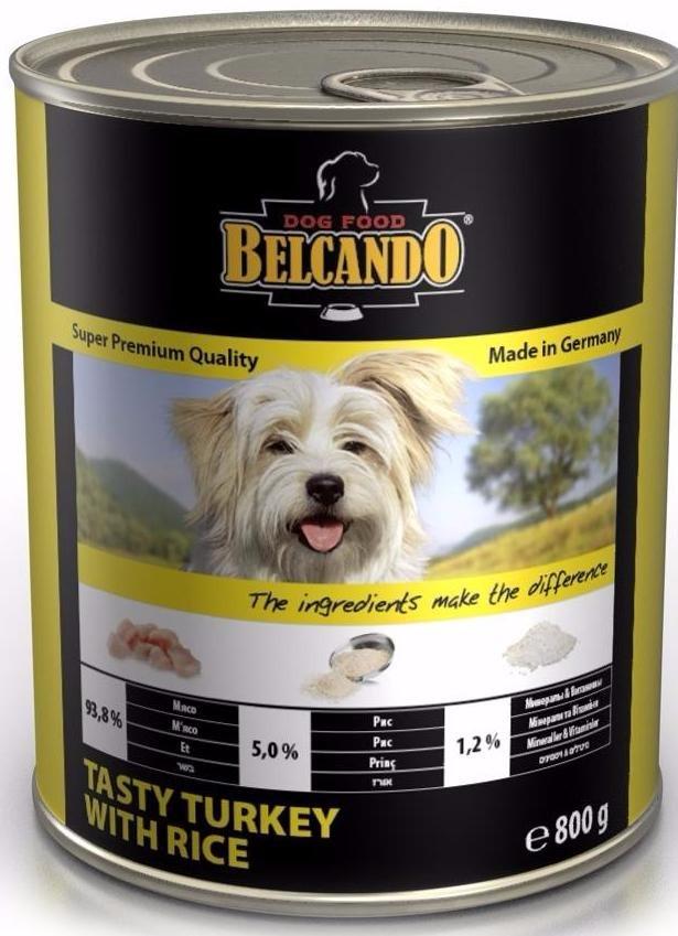 Belcando Super Premium консервы для собак, с индейкой и рисом, 800 г
