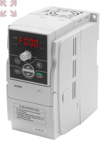 Преобразователь частоты AFD-L022.21B, 2,2 кВт, 0…400 Гц, однофазное питание 180…260 VAC