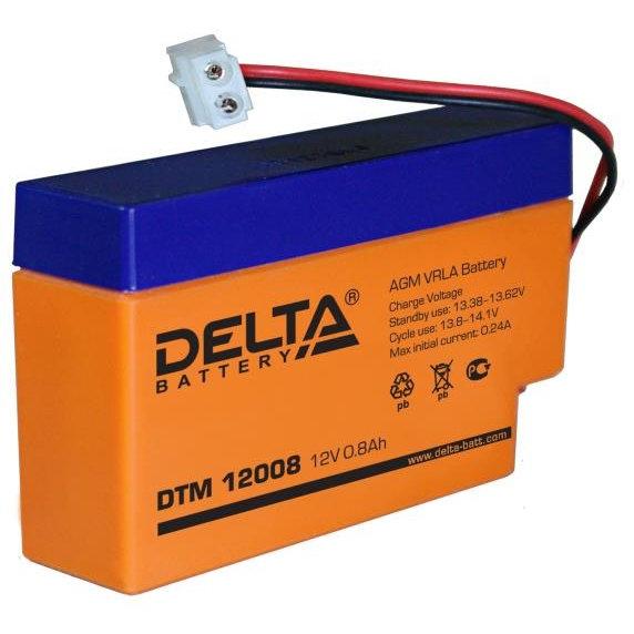 АКБ-0,8 DTM 12008 Delta Свинцово-кислотный, герметичный аккумулятор