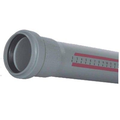 Труба Ostendorf 40 мм 1,8-1000 мм внутренняя канализация с раструбом серая HTEM