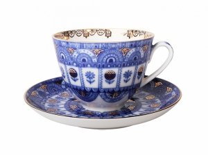Чашка с блюдцем чайная Арочки (Весенняя) 230 мл, Императорский фарфоровый завод (ЛФЗ) 81.10229.00.1