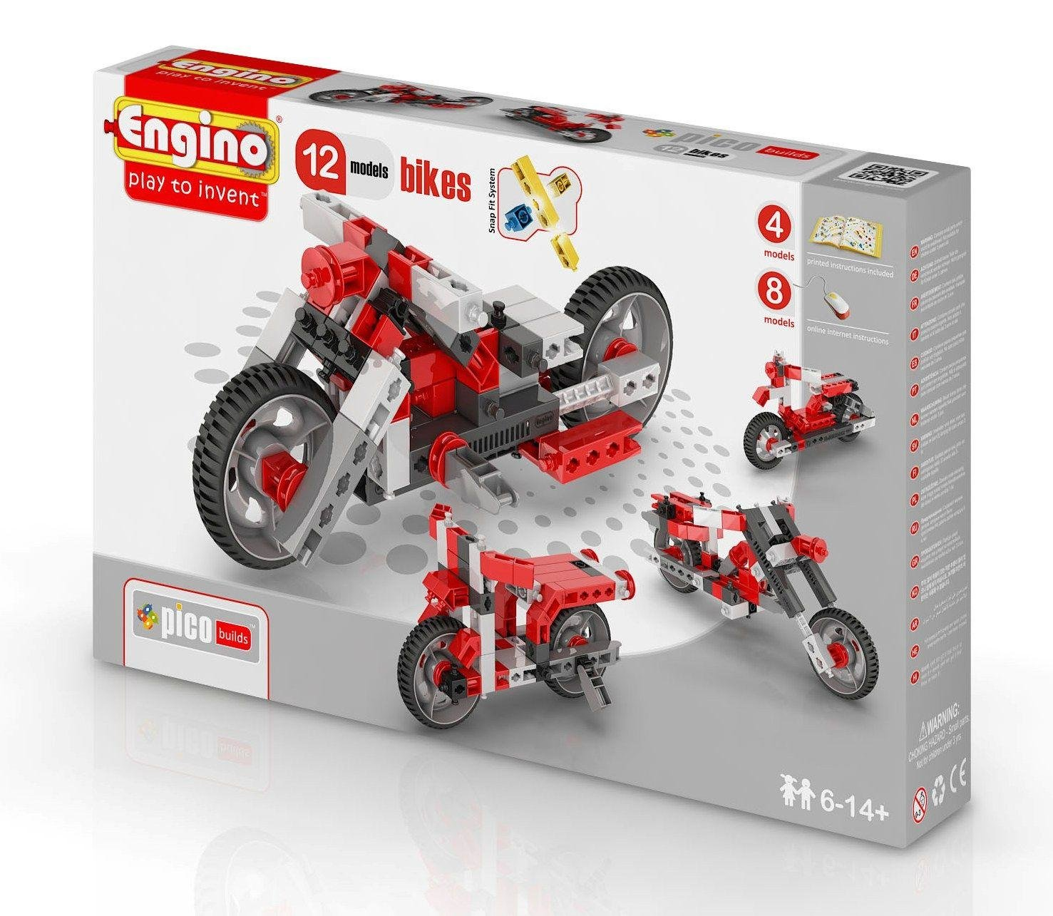 Конструктор Engino PICO BUILDS|INVENTOR Мотоциклы - 12 моделей ст.15 - PB32(1232)