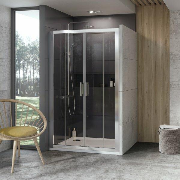 Душевая дверь Ravak 10DP4-120 блестящий + транспарент