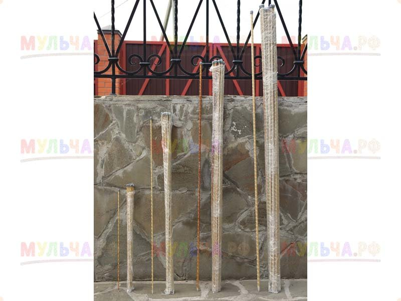 Колья для подвязки, h 180 см (10 шт/уп), полимерные - стеклопластик