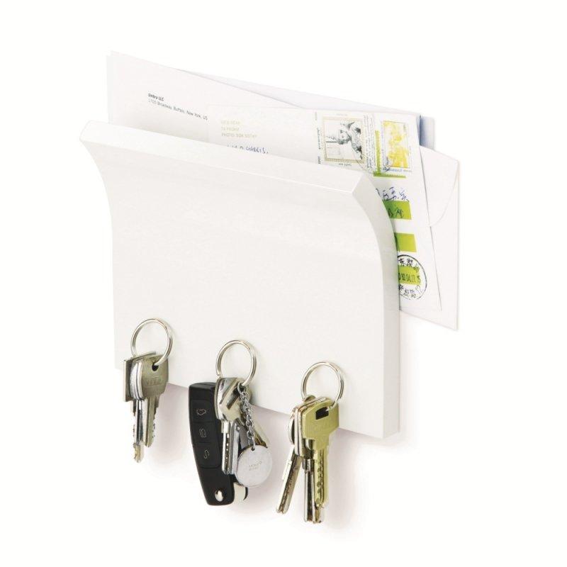 Держатель для ключей и писем UMBRA Magnetter белый
