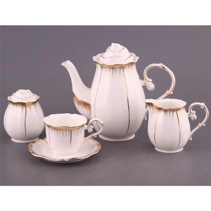 """Чайный сервиз Lefard 590-003 чайный сервиз на 6 персон 15 пр. """"цветочная симфония"""" 1200/200 мл. фарфор"""