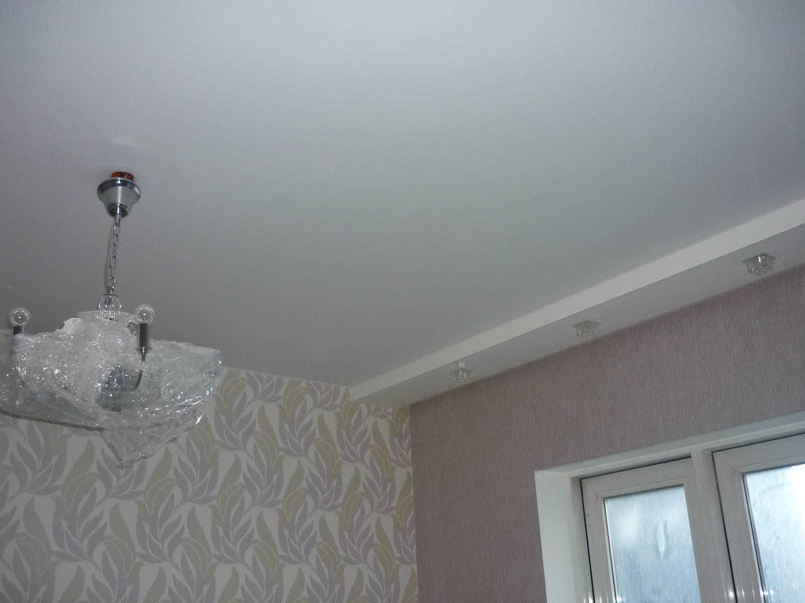 Натяжные потолки матовые цена за 1м2 с установкой