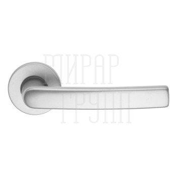 Дверные ручки Дверная ручка алюминиевая Brialma Kiruna на круглой розетке матовый хром