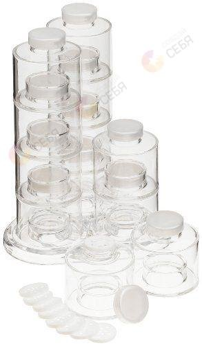 Нинбо Набор для специй Карусель из 12 банок с подставкой и дополнительными крышками фото-10