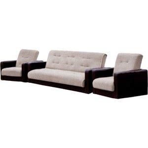 Комплект Стоффмебель (ЛМФ) (диван+ 2 кресла) Лондон рогожка бежевая
