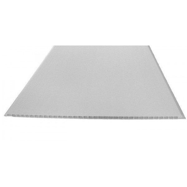 Панель ПВХ матовая белая 2700x250x8 мм (0,675 кв.м.)
